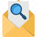 communication, connection, contact, mail, search icon