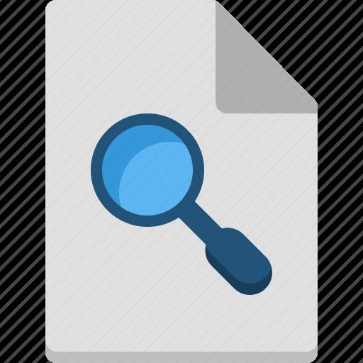 computer, digital, file, note, organization, search icon