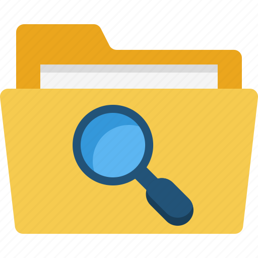 computer, digital, folder, note, organization, search icon