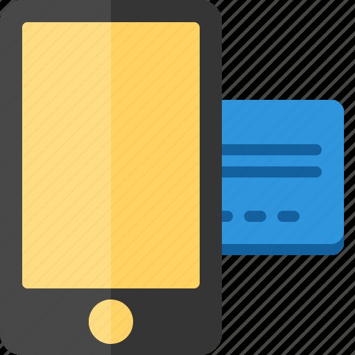 business, commerce, economics, money, payment, smartphone icon