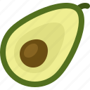 avocado, cooking, food, meal, snack icon