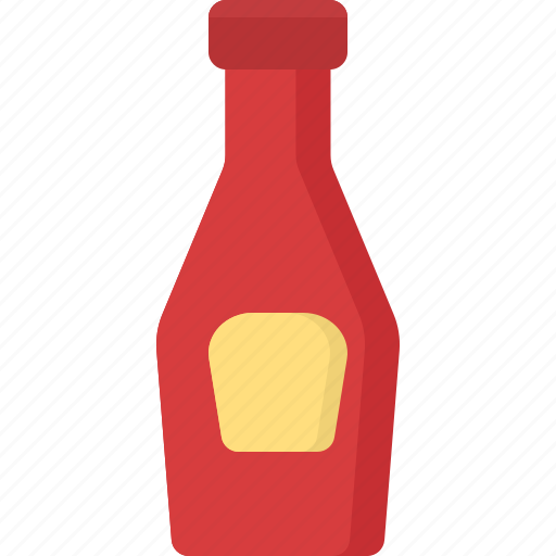 cooking, food, ketchup, meal, snack icon