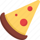 cooking, food, meal, pizza, slice, snack icon