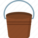 bucket, communication, design, love, security icon