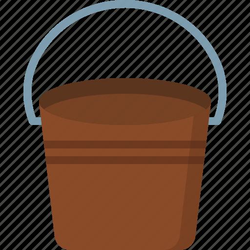 bucket, communication, design, love, security icon
