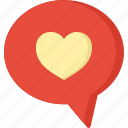 chat, communication, design, love, security icon