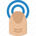 communication, design, finger, love, point, security, touch icon