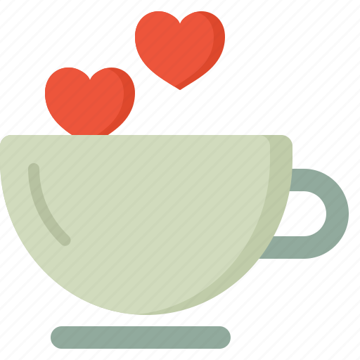 coffee, communication, design, love, security icon