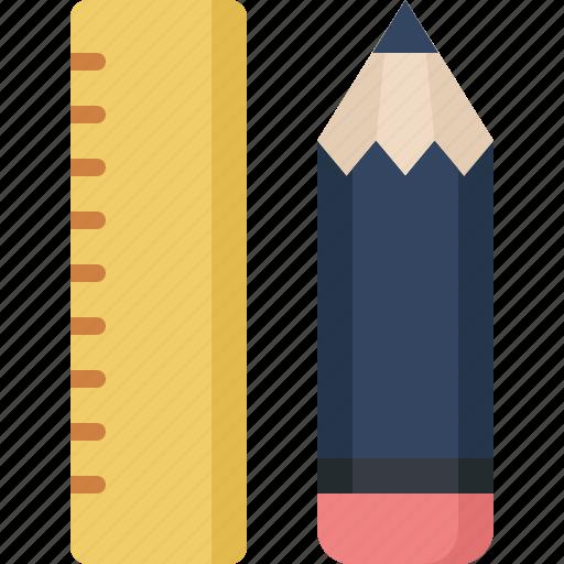 communication, design, love, pencil, ruler, security icon