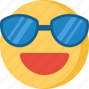 communication, design, love, security, smile, sunglasses icon