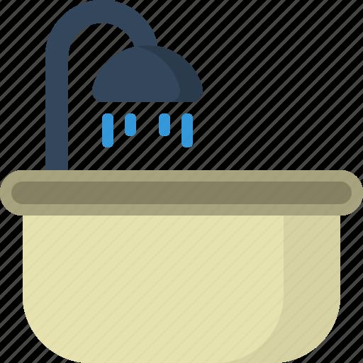 bathtub, clothing, furniture, gadgets, tools icon