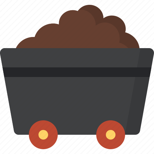 agriculture, farming, industry, loaded, production, trolley icon