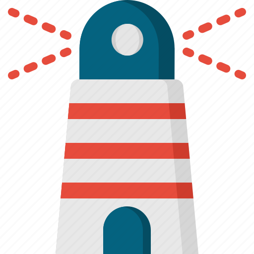 lighthouse, tip, tour, travel, vocations icon