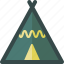 tent, tip, tour, travel, vocations icon