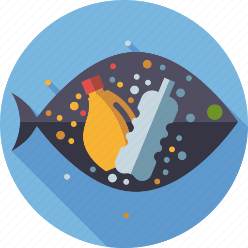 ecology, environment, fish, microplastic, nature, plastic waste, water pollution icon