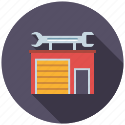 building, business, garage, house, real estate, realty, workshop icon