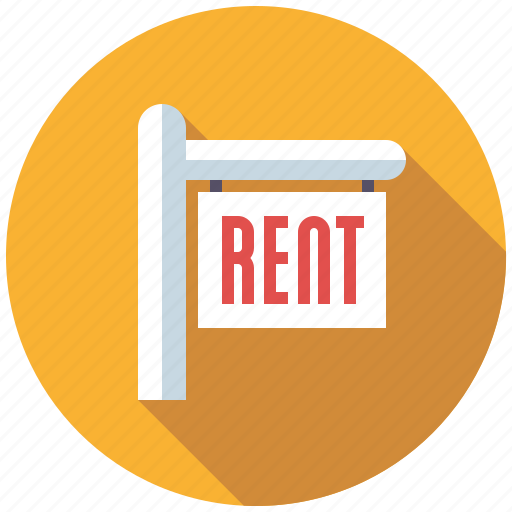 for rent, home, real estate, realtor, realty, sign icon