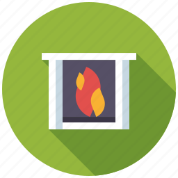 facility, fireplace, home, interior, real estate, realty icon