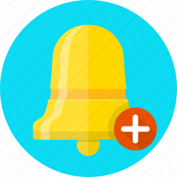 add, alarm, alert, bell, notification icon