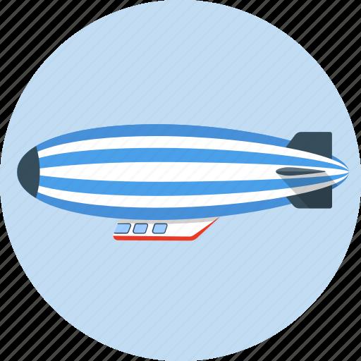 balloon, baloon, blimp, hot air balloon, transport, zeppelin icon