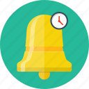 alarm, alert, bell, clock, message, notification, reminder icon