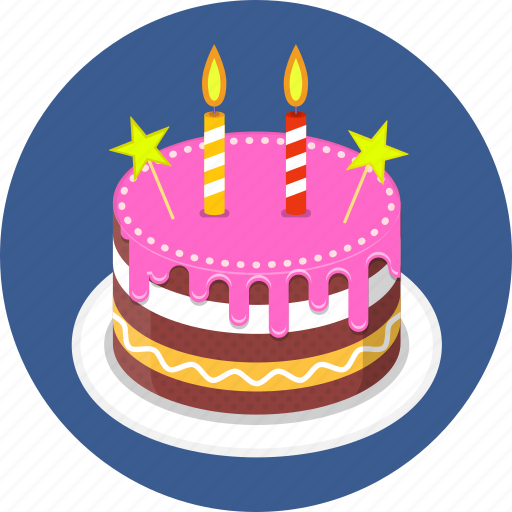 Birthday Cake Candle Candles Happy Icon