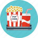 cinema, coca, cola, film, movie, popcorn, soda