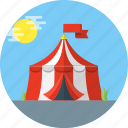 carnival, circus, tent icon