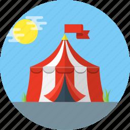 carnival, circus, tent icon