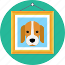 animal, beagle, dog, frame, paint, poster icon