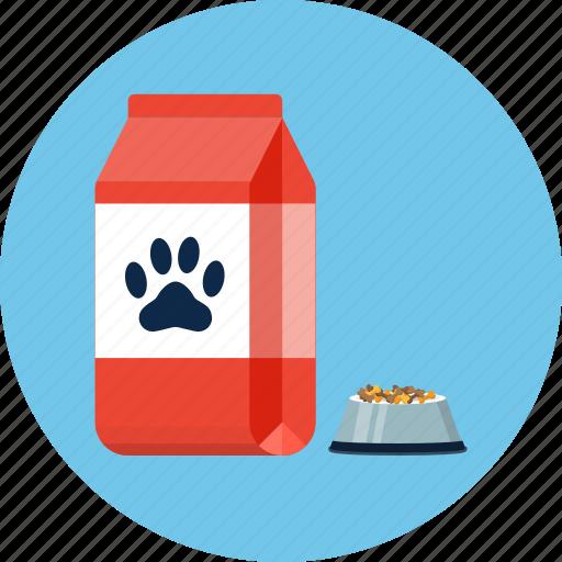 bag, dog, food icon