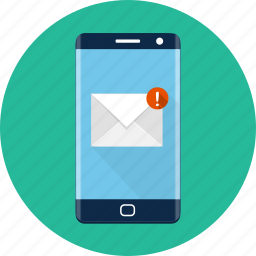 email, smartphone icon