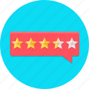 bubble, customer, feedback, rating, review, star icon