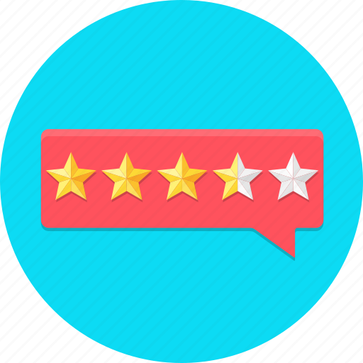 Bubble, customer, feedback, rating, review, star icon - Download on Iconfinder