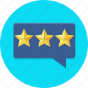 bubble, customer, feedback, rating, star icon