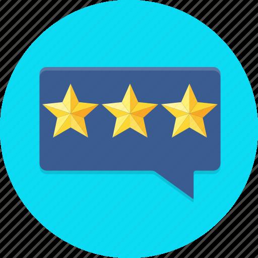 bubble, customer, feedback, rating, star icon