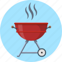 barbecue, bbq, food, grill, kettle, trolley icon