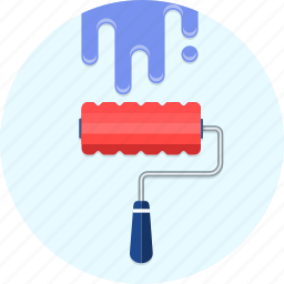 paint, roller icon