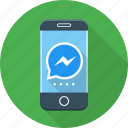 call, messenger, phone icon
