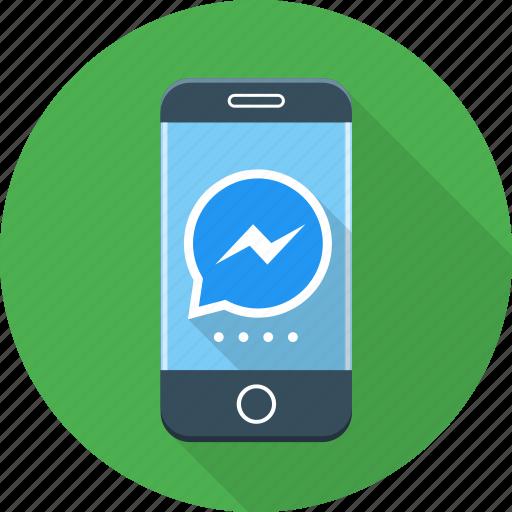 call, messenger, phone icon