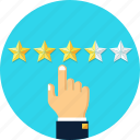 hand, rating, review, star icon