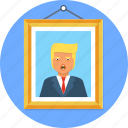 frame, paint, picture, trump, wall icon