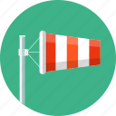 airport, forecast, weather, wind, windsock icon