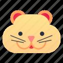 domestic, face, hamster, pet icon