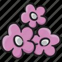bloom, blossom, floral, flower, nature, violet icon