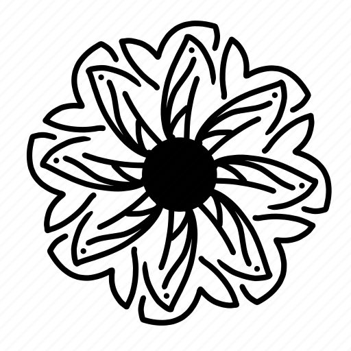 elements, floral, flower, mandala, ornaments, shapes, sun icon