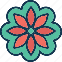 blooming, decoration flower, floral, flower icon