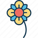 blooming, ecology, nature, origami flower icon
