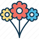 daffodil, floral, flower, natural icon
