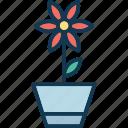 flower, flower pot, nature, plant pot icon